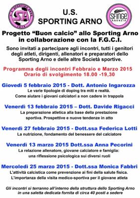 Programma Progetto BUON CALCIO